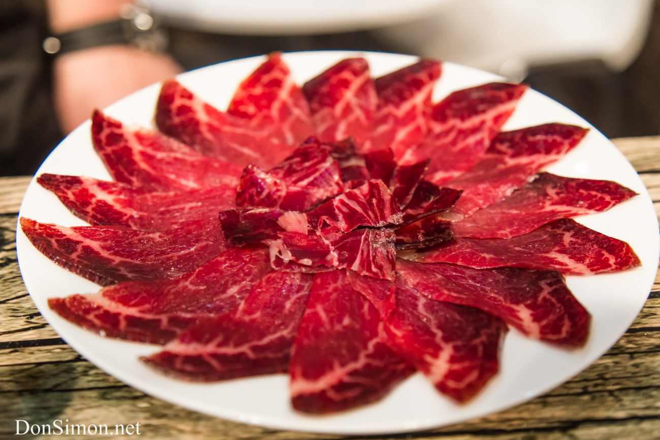 Cecina. Cured smoked beef