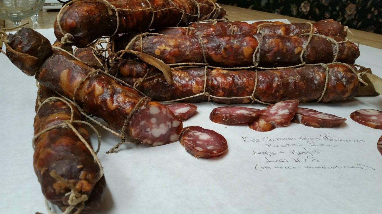 Колбаса Сырокопченая Майкопская Высшего СортаMaykopskaya Dry-Cured, Cold-Smoked Sausage, High Grade