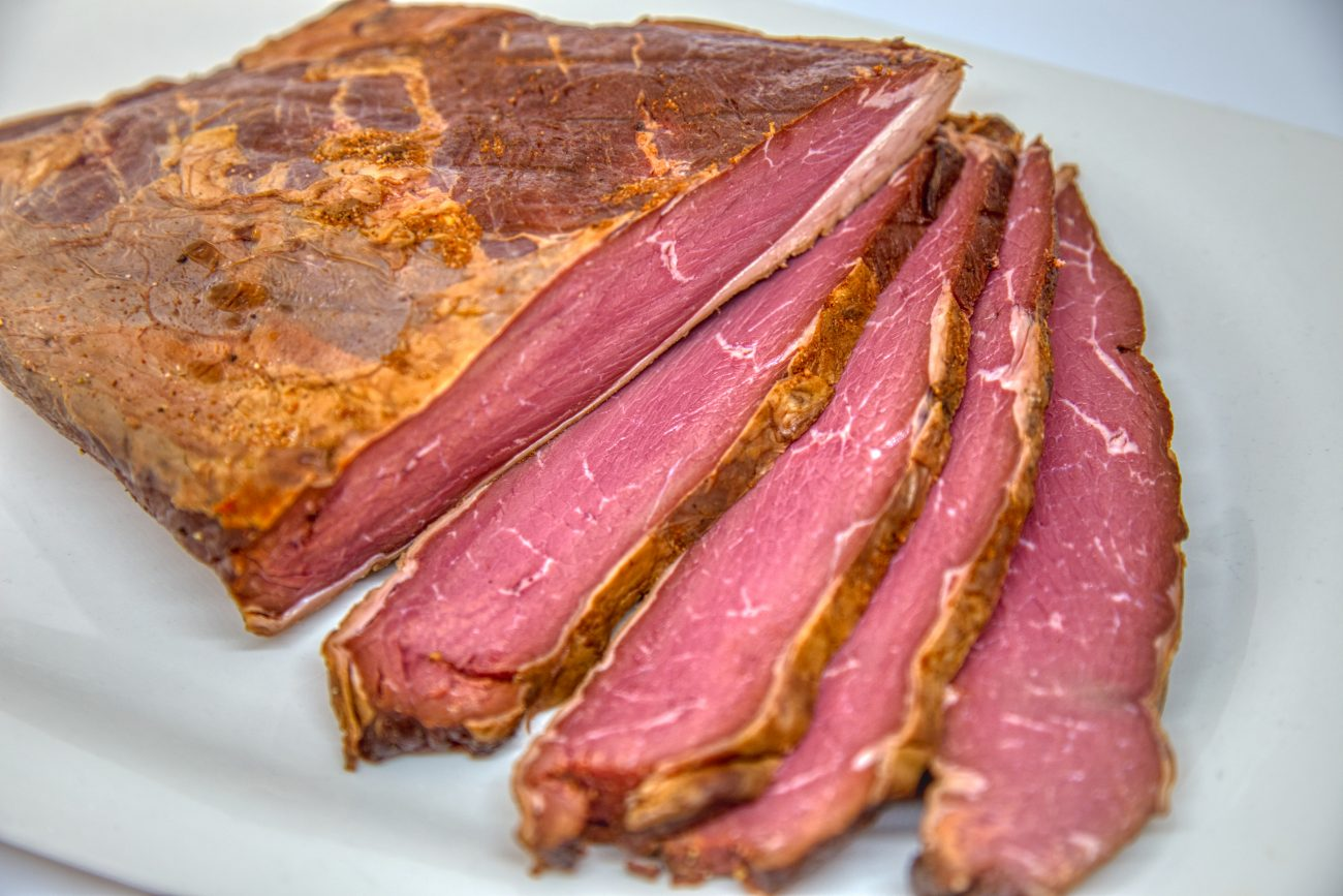 THE PASTRAMI (COOKED AND SMOKED VEAL)